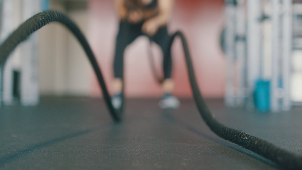Battle ropes are great HIIT for beginners